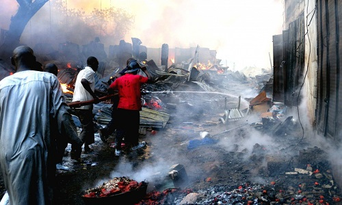 Fire razes 6 houses, petrol station in Ondo State