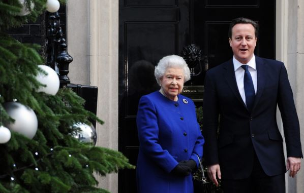 The Queen and David Cameron