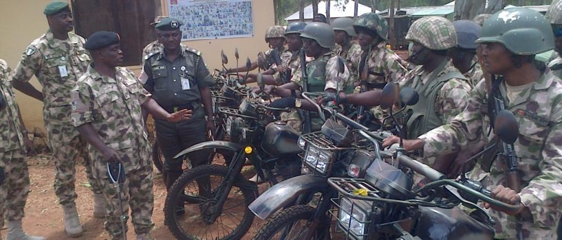 ARMY GIVES MOTORCYCLE TO REDUCE RESPONSE TIME TO CRIME