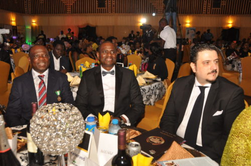 .L-R:President, Advertisers Association of Nigeria (ADVAN), David Okeme; MD and CEO, Airtel Nigeria, Segun Ogunsanya and Chairman, ADVAN Awards 2016 and Marketing Director, Nigerian Breweries, Franco Maria Maggi at the ADVAN Awards for Marketing Excellence at the Muson Centre Lagos, recently.