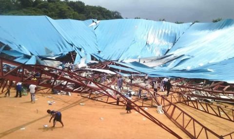 Breaking: Governor Udom Escapes Death, As collapsed Building Kills 50