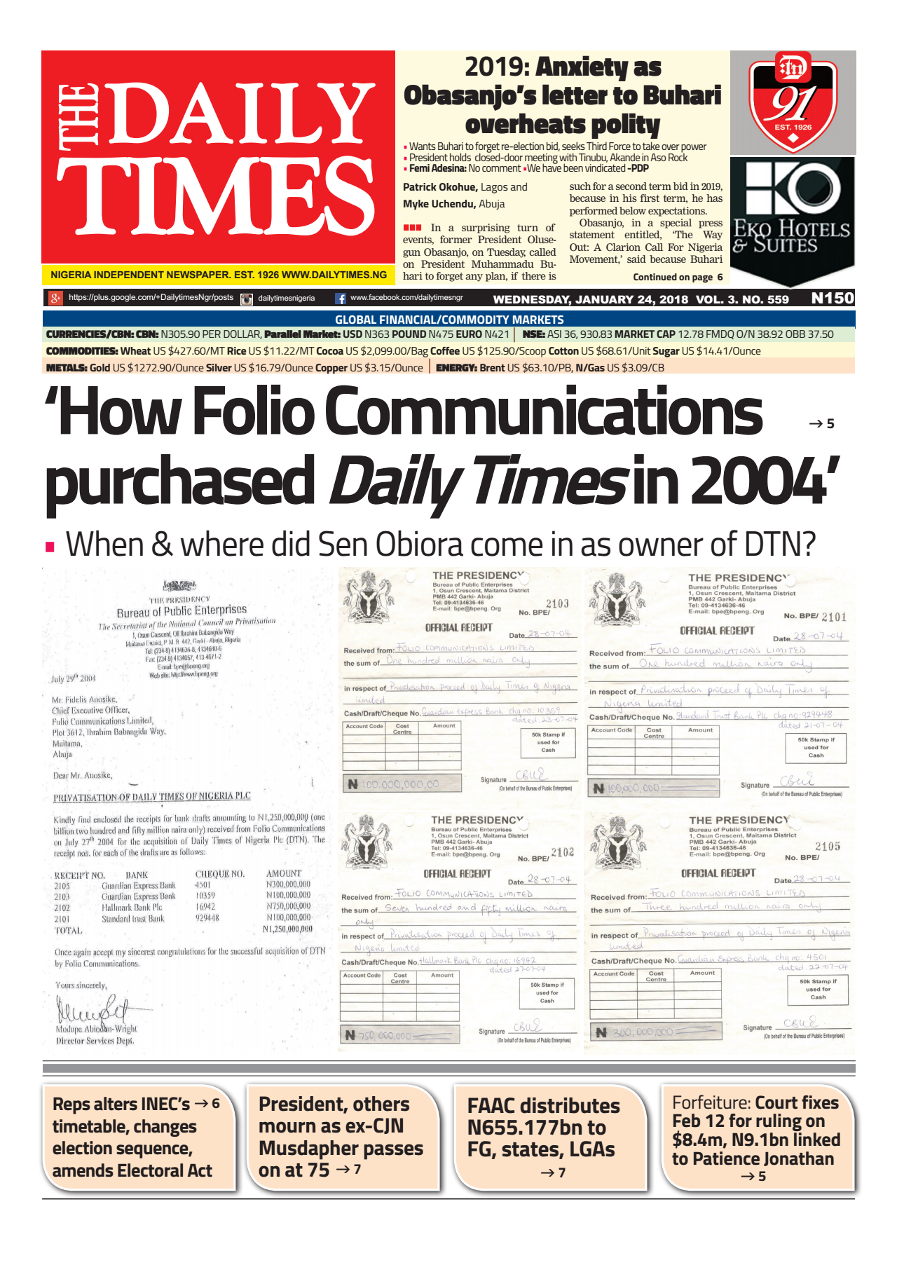 'How Folio Communications  purchased Daily Times in 2004'