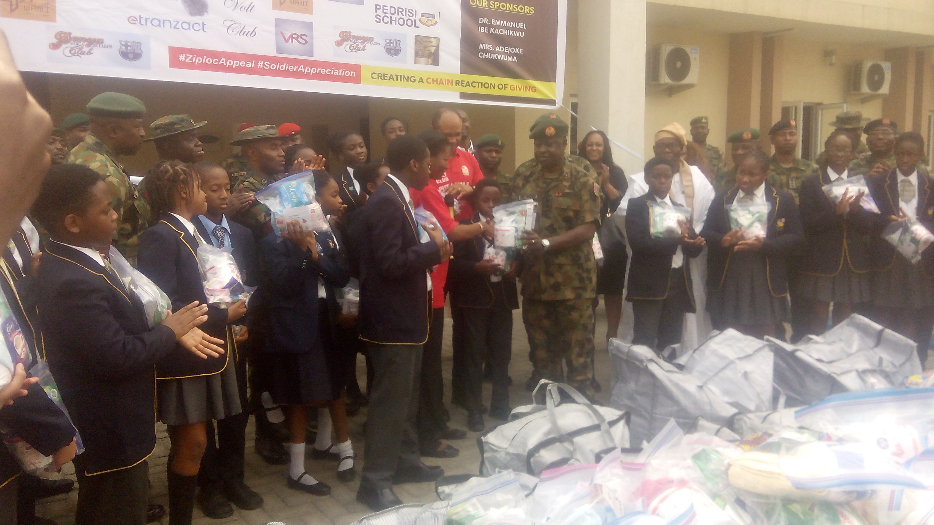 Students gift Nigerian Army 3,000 bags of ready-to- use-items