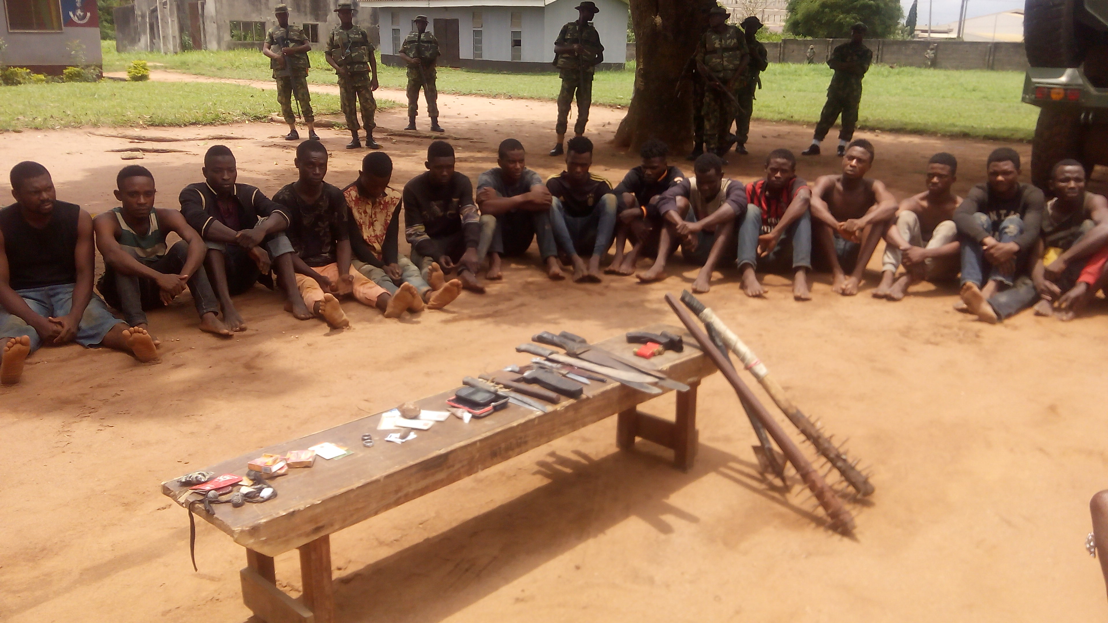 Army arrest 23 suspected cultists  during initiation in Lagos