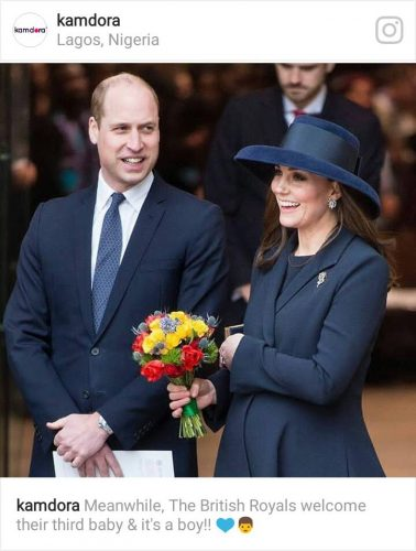 Prince William and wife, welcome third child