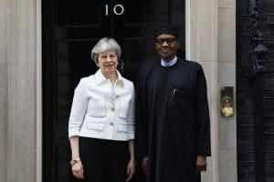 Buhari meets Theresa May in London