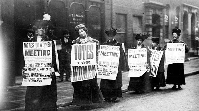 London marks 100th anniversary of women winning the rights to vote