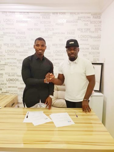 Photos: Jim Iyke signs multi million ambassador deal with WEARIT ALL MEN'S LUXURY BRAND