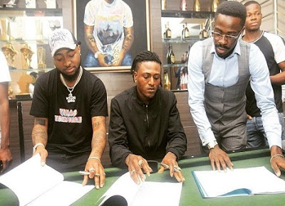 Photos: Davido Signs Idowest To DMW