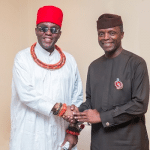 Osinbajo holds close door meeting with Oba of Benin