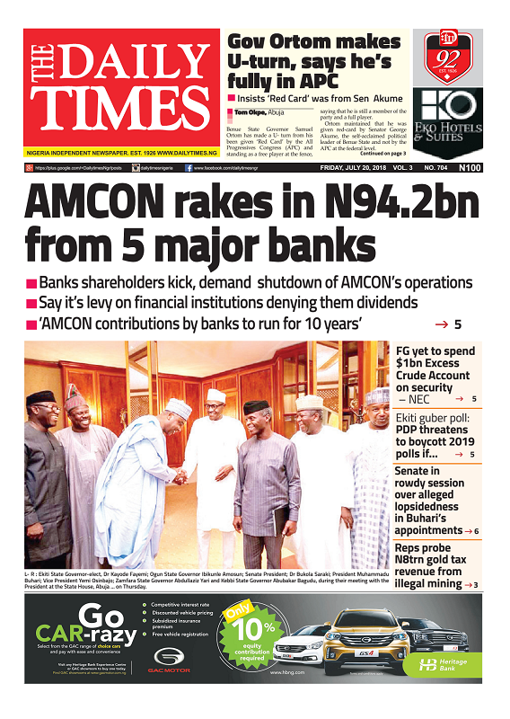 Daily Times Newspaper, Friday, July 20, 2018