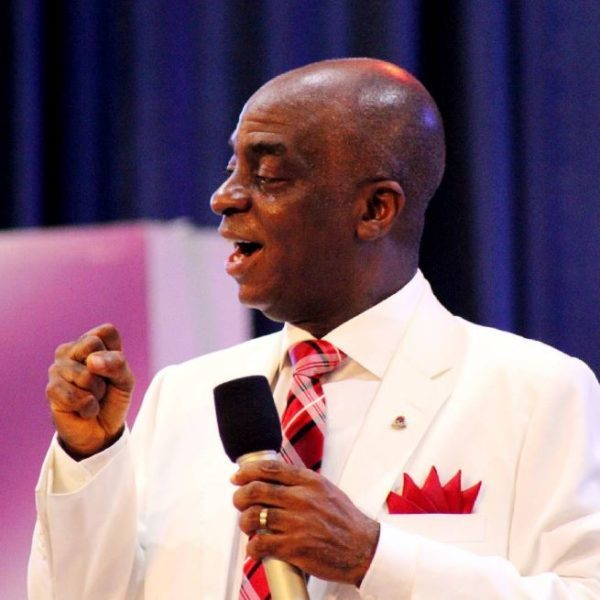 Watch The Video Of Bishop Oyedepo Telling 'Non-Performing' Buhari To Resign, 'Get Out Of Office'