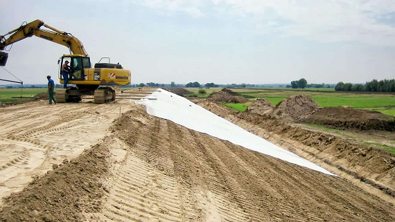 FG begins construction of dykes to prevent flooding