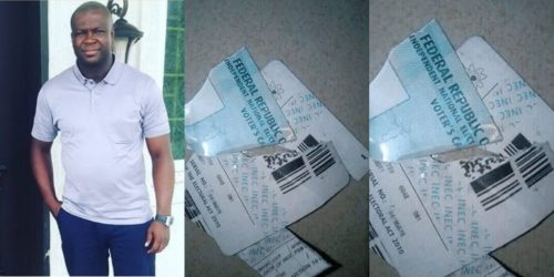 Man destroys his PVC following APC's victory in Ekiti state