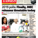 Daily Times Newspaper, Friday, August 17, 2018