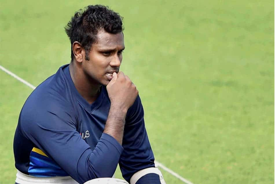 Sacked Sri Lanka captain Mathews says He is a 'scapegoat'