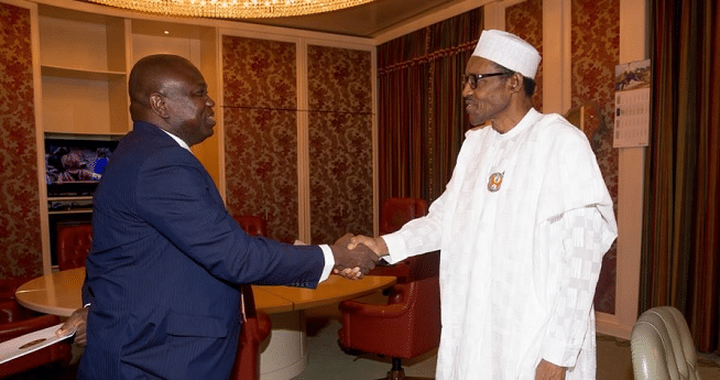 Just In: Buhari in closed-door meeting with Ambode