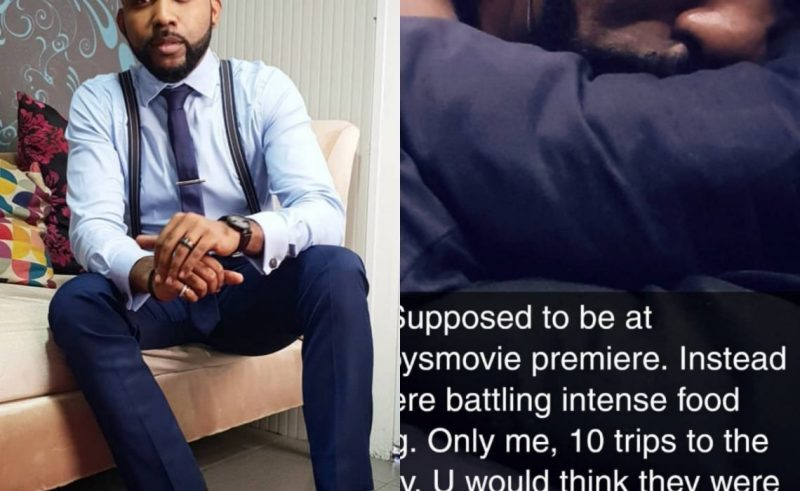Photo: Banky W suffers severe food poisioning