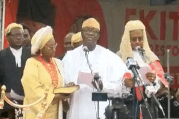 Fayemi sworn-in for second term as Buhari reassures Ekiti of FG's support