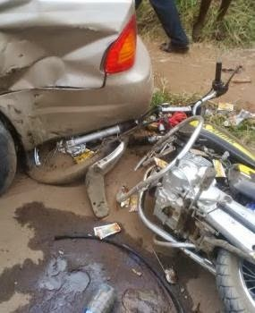 Anguish as car kills student on 'okada.'