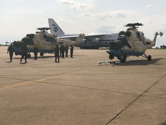 NAF takes delivery of 2 new attack Helicopters