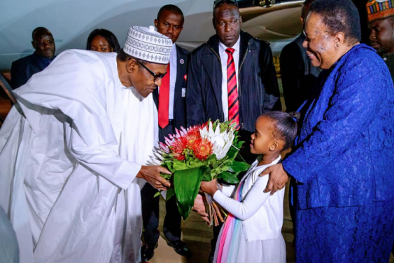 President Buhari Arrives In South Africa