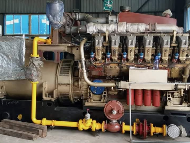 Some of the equipment being installed at the 55 Megawatts CCETC-Ossiomo Power plant in Ologbo, near Benin City.