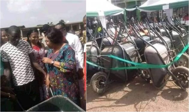 Nsukka youths enraged over Council Chairman's wheelbarrows empowerment