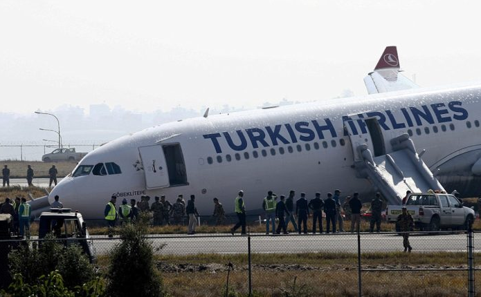 Port Harcourt Airport The Turkish passenger plane after the emergency return