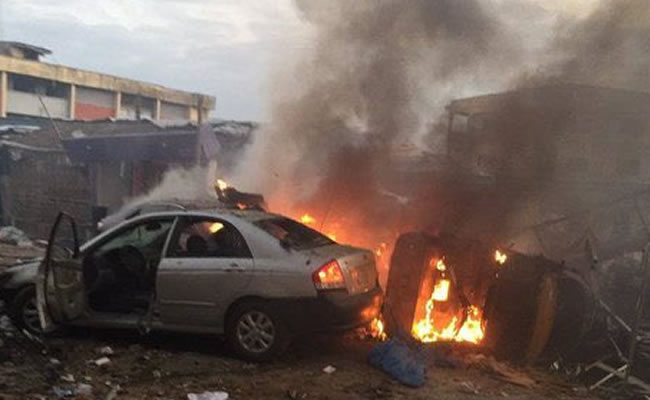 Gas Explosion Rocks Ajao Estate, properties destroyed (Photos/Video)