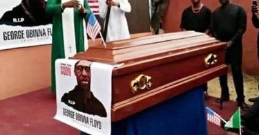 George Floyd, allegedly linked to Mbaise, reburied (photos)