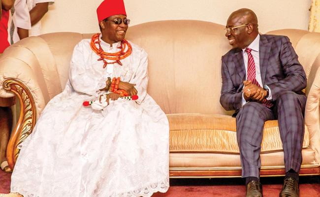 Edo 2020: Oba of Benin speaks after meeting with Obaseki