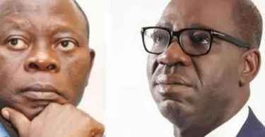 Stop digging up my past statements against Ize-Iyamu– Oshiomhole warns PDP