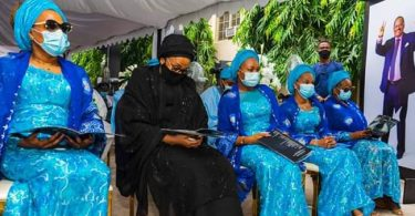 Ajimobi's 40th day Fidau prayer, Ganduje, wife attend