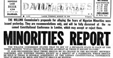 Daily Times Archive: Details of the 1958 Wilink commission minority report