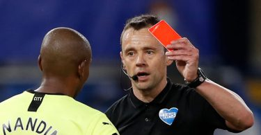 Football players coughing at opponent will receive red card - FA