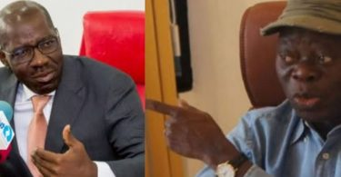 3 Terrible things Oshiomhole said about Ize-Iyamu in the past