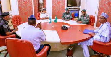 Buhari questions source of terrorists' weapons after border closure