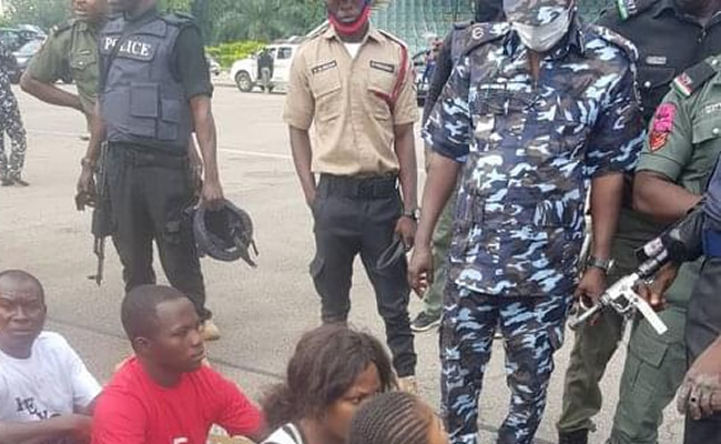 Police, 'Revolution Now' protesters lock horns in Lagos