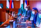 Obaseki pays thank you visit to Buhari