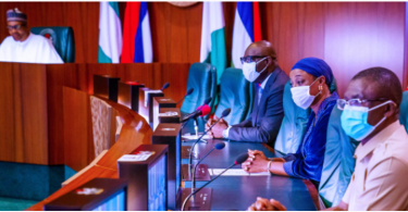 Obaseki pays thank you visit to Buhari