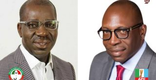 Obaseki, Ize-Iyamu battle for Edo state governorship election