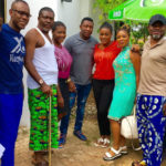 Cast and crew of Glo Professor Johnbull on set for Season 6