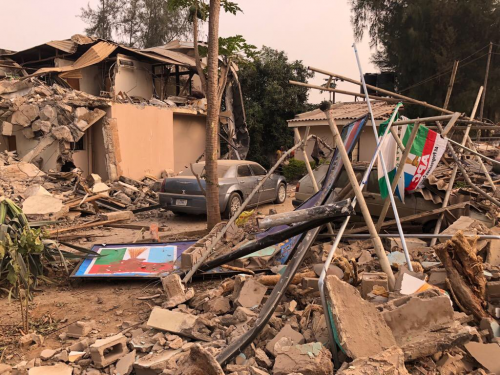 Kaduna State Govt. demolishes APC Secretariat