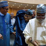 Gowon, Obasanjo join Buhari at Council of State meeting