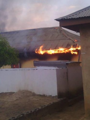 Angry Youths Set C&S Church Ablaze In Kaduna, Beats Pastor To Stupor