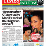 Daily Times Newspaper, Saturday, April 21, 2018