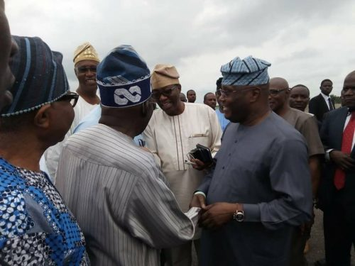 Ekiti Election: See What Happened When Atiku Abubakar Met Tinubu At Airport