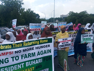 Boko Haram: Over 2, 000 IDPS to return home, thank Buhari, Nigeria Army