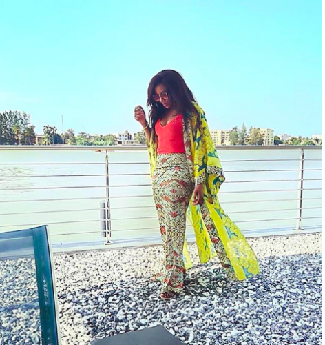 Genevieve Nnaji flaunts cleavage in new photo